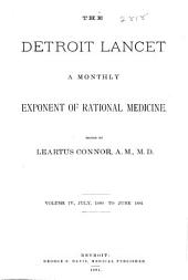 The Detroit Lancet: Volume 4