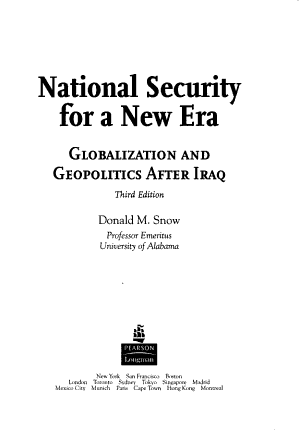 National Security for a New Era PDF