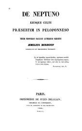 De Neptuno ejusque cultu prâesertim in Peloponneso: Thesim proponebat