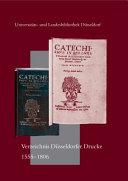 Verzeichnis D  sseldorfer Drucke  1555 1806  PDF