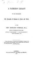 A Father s Legacy to His Children PDF