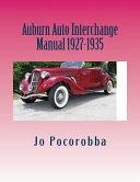 Auburn Auto Interchange Manual 1927-1935