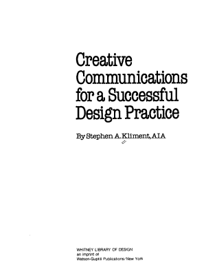 Creative Communications for a Successful Design Practice