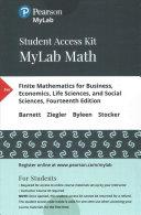 Finite Mathematics Business  Economics  Life Sciences  and Social Sciences MyLab Math Access Code PDF