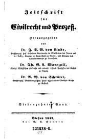 Zeitschrift für Civilrecht und Prozeß. Hrsg. von J(ustus) T(himotheus) B(althasar von) Linde, Th(eodor) G. L. Marezoll, J(ohann) N(epomuk) von Wening-Ingenheim: Band 17