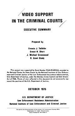 Video Support in the Criminal Courts PDF