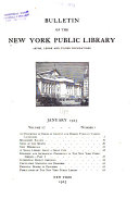 Download Bulletin of the New York Public Library Book