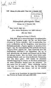 Papyrus Prisse: ¬Der Autor Kadjimna vor 5400 Jahren, Band 1