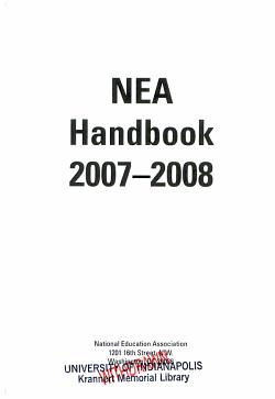 NEA Handbook 2007 2008 PDF