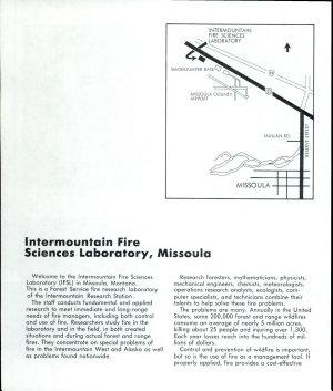 Intermountain Fire Sciences Laboratory  Missoula  Montana