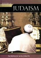 Historical Dictionary of Judaism PDF