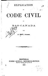 Explication du Code civil du Bas-Canada