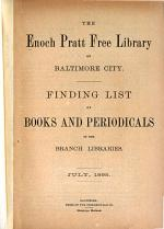 Finding List of Books and Periodicals in the Branch Libraries