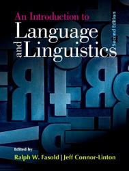 An Introduction To Language And Linguistics PDF