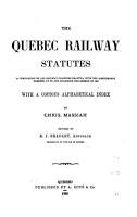 The Quebec Railway Statutes PDF