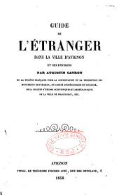 Guide de l'étranger dans la ville d'Avignon et ses environs