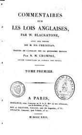 Commentaires sur les lois anglaises: Volume1