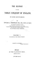 The History of the Norman Conquest of England  The effects of the Norman Conquest  1876 PDF