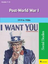 Post-World War I: 1919 to 1930s