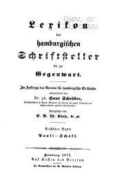 Lexikon der hamburgischen Schriftsteller bis zur Gegenwart: Pauli-Schoff