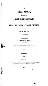 Sermon at the Dedication of the First Congregational Church, New York, Jan. 20, 1821