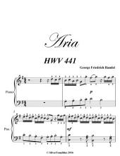 Aria Preludio Easy Piano Sheet Music