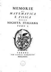 Memorie di matematica e fisica della Società italiana: Volume 1