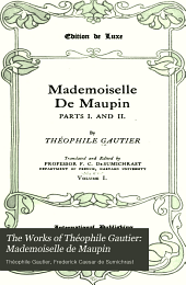 The Works of Théophile Gautier: Mademoiselle de Maupin