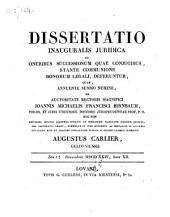 De oneribus successionum quae conjugibus, stante communione bonorum legali, deferuntur