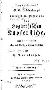 Ausführliche Erklärung der Hogarthischen Kupferstiche: Band 1