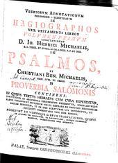 Uberiorum adnotationes philologico-exegeticae in hagiographos vet. test. libros: Volume 1