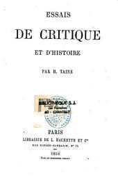 Essais de critique et d'histoire