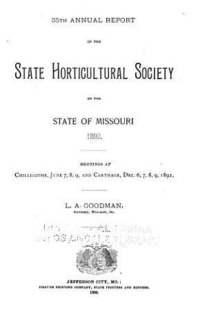 Report of the Missouri State Horticultural Society for the Year     PDF