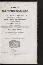Précis d'entomologie: ou d'histoire naturelle des animaux articulés