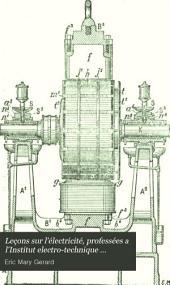 Leçons sur l'électricité, professées a l'Institut electro-technique Montefiore, annexé a l'Université de Liége: Volume1