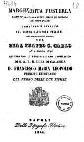 Margherita Pusterla ballo storico-romantico diviso in prologo ed otto quadri composto e diretto dal signor Salvatore Taglioni