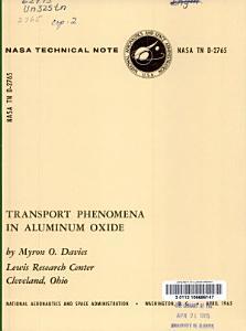 Transport Phenomena in Aluminum Oxide PDF