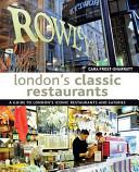 London s Classic Restaurants PDF