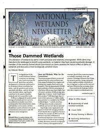 National Wetlands Newsletter PDF