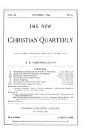 New Christian Quarterly PDF