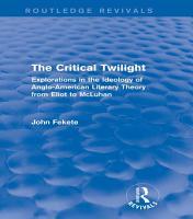 The Critical Twilight  Routledge Revivals  PDF