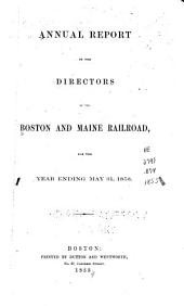 Annual Report of the Directors of the Boston and Maine Railroad, Made Up to December 1 ...
