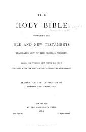 The Holy Bible, Containing the Old and New Testaments: Volume 3