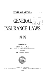 General Insurance Laws: 1919