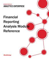 Financial Reporting Analysis Module Reference for MicroStrategy Analytics Enterprise