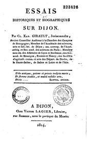 Essais historiques et biographiques sur Dijon