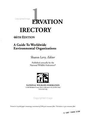 2001 Conservation Directory PDF