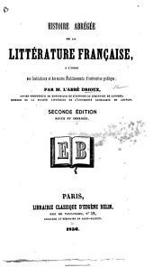Histoire abrégée de la littérature française ... Seconde édition, revue et corrigée