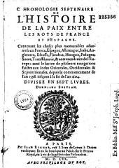 Chronologie septenaire de l'histoire de la paix entre les rois de France et d'Espagne...
