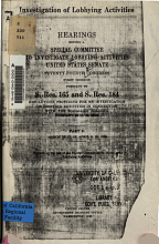 Investigation of Lobbying Activities  Hearings  March 16 17  19  April 8  10  1936 PDF